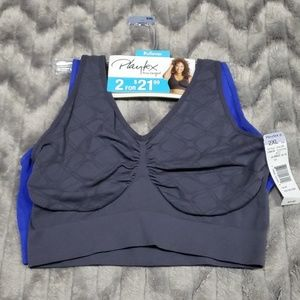 Playtex Pullover Pure Comfort Bra Set Of 2  2XL